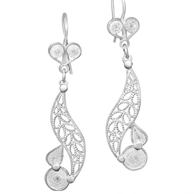Earrings Sterling Silver 970 Filigree HI-010