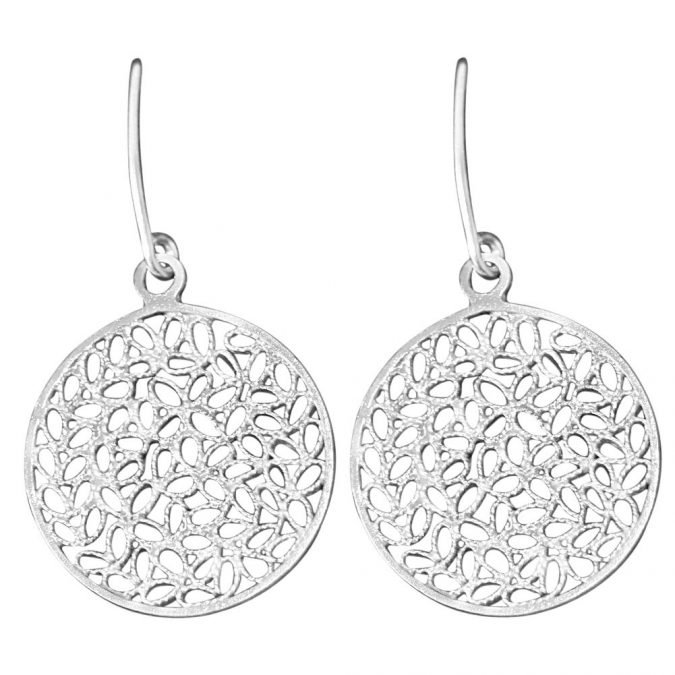 Earrings Sterling Silver 970 Filigree HI-026