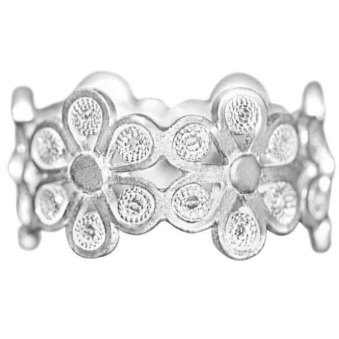 Ring Sterling Silver 970 Filigree HI-307